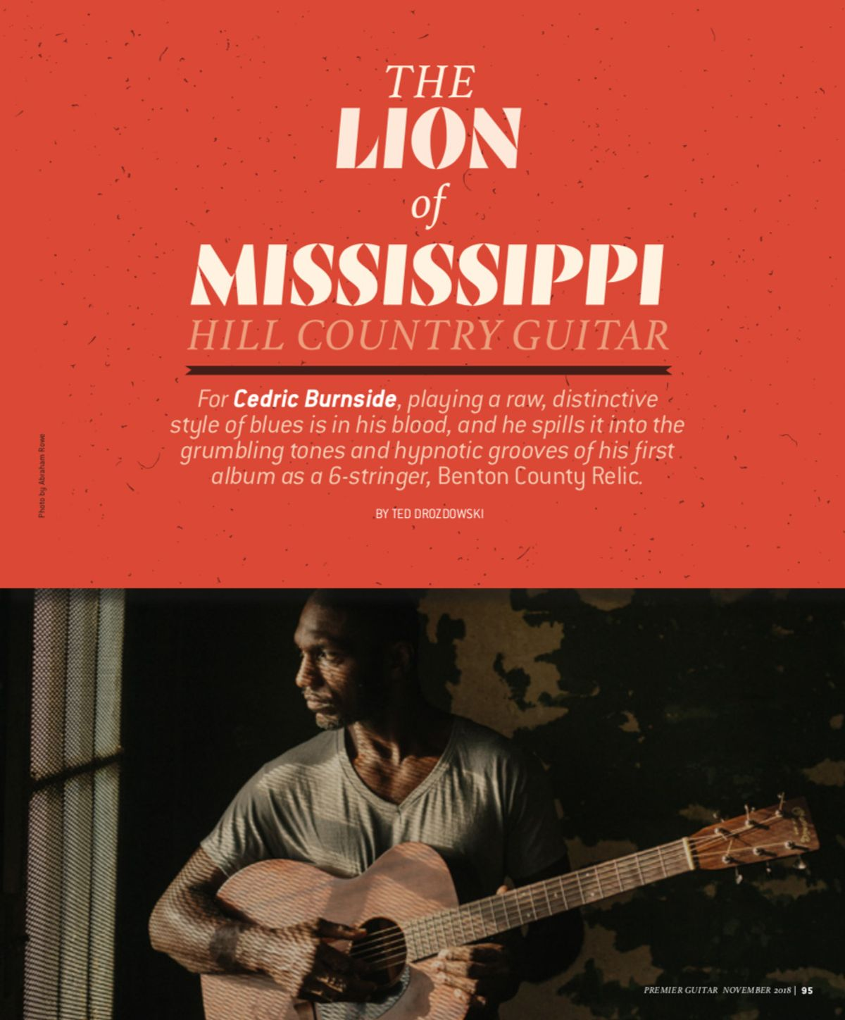 Cedric Burnside: Lion of Mississippi Hill Country Guitar