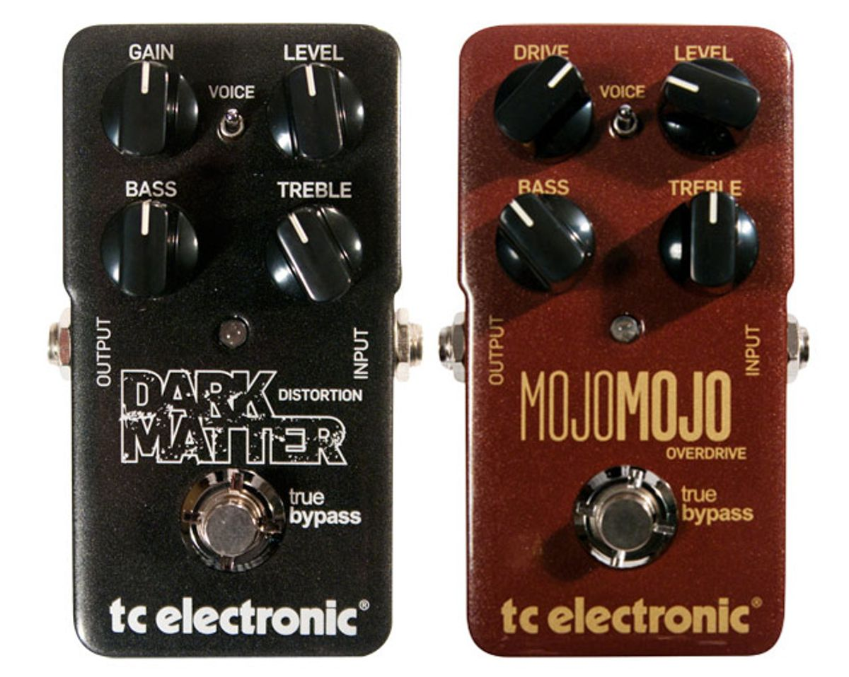 TC Electronic MojoMojo Overdrive and Dark Matter Distortion Pedal Reviews