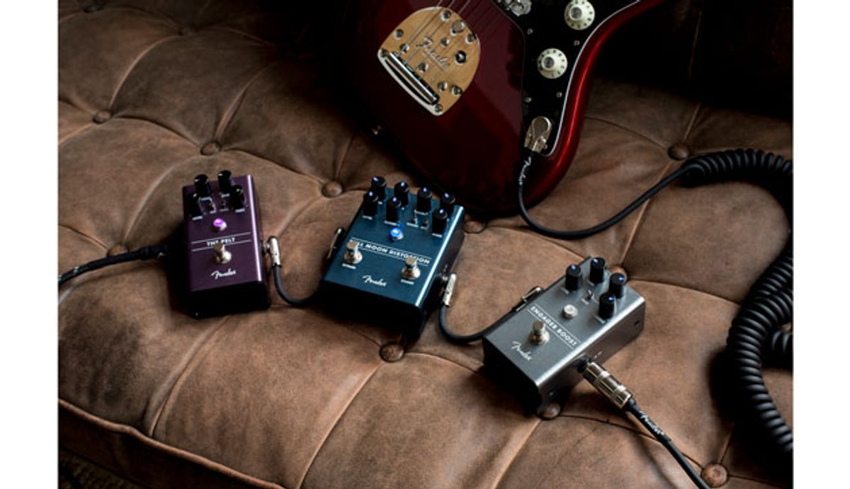 Fender Releases the Engager Boost, Pelt Fuzz, and Full Moon Distortion Pedals