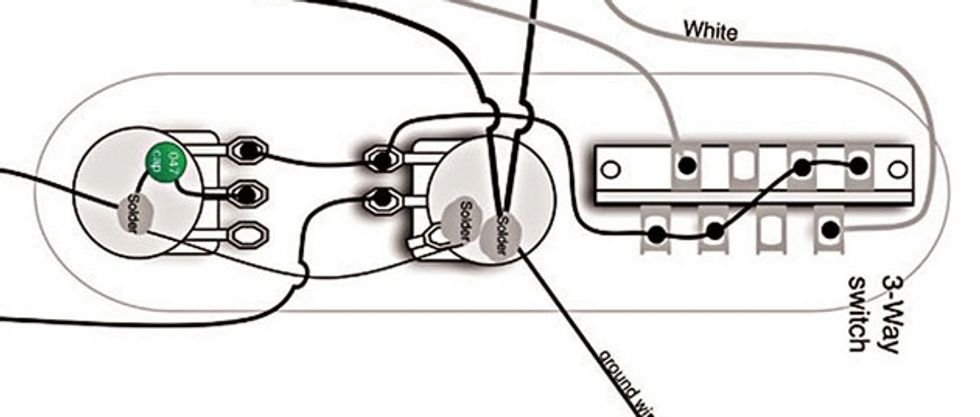 Fender Telecaster Wiring Diagram Humbucker on