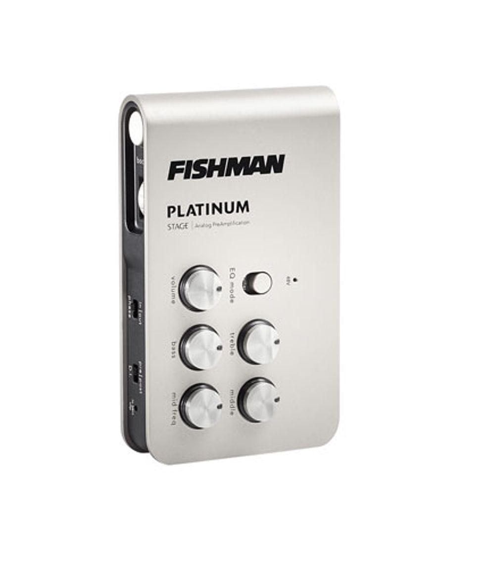 fishman releases the platinum pro eq and platinum stage acoustic preamps 2014 11 14 premier. Black Bedroom Furniture Sets. Home Design Ideas