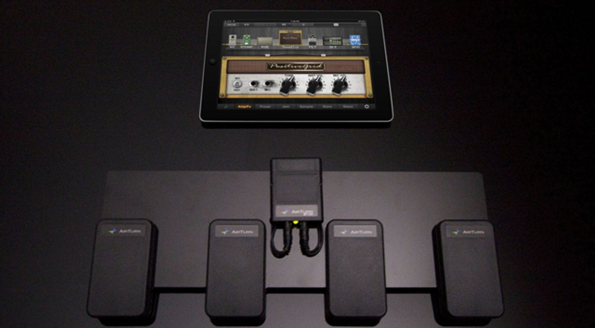 Positive Grid's JamUp Pro XT adds AirTurn Wireless Pedals for iOS Guitar Effects