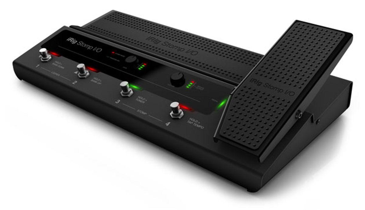IK Multimedia Unveils the iRig Stomp I/O Pedalboard