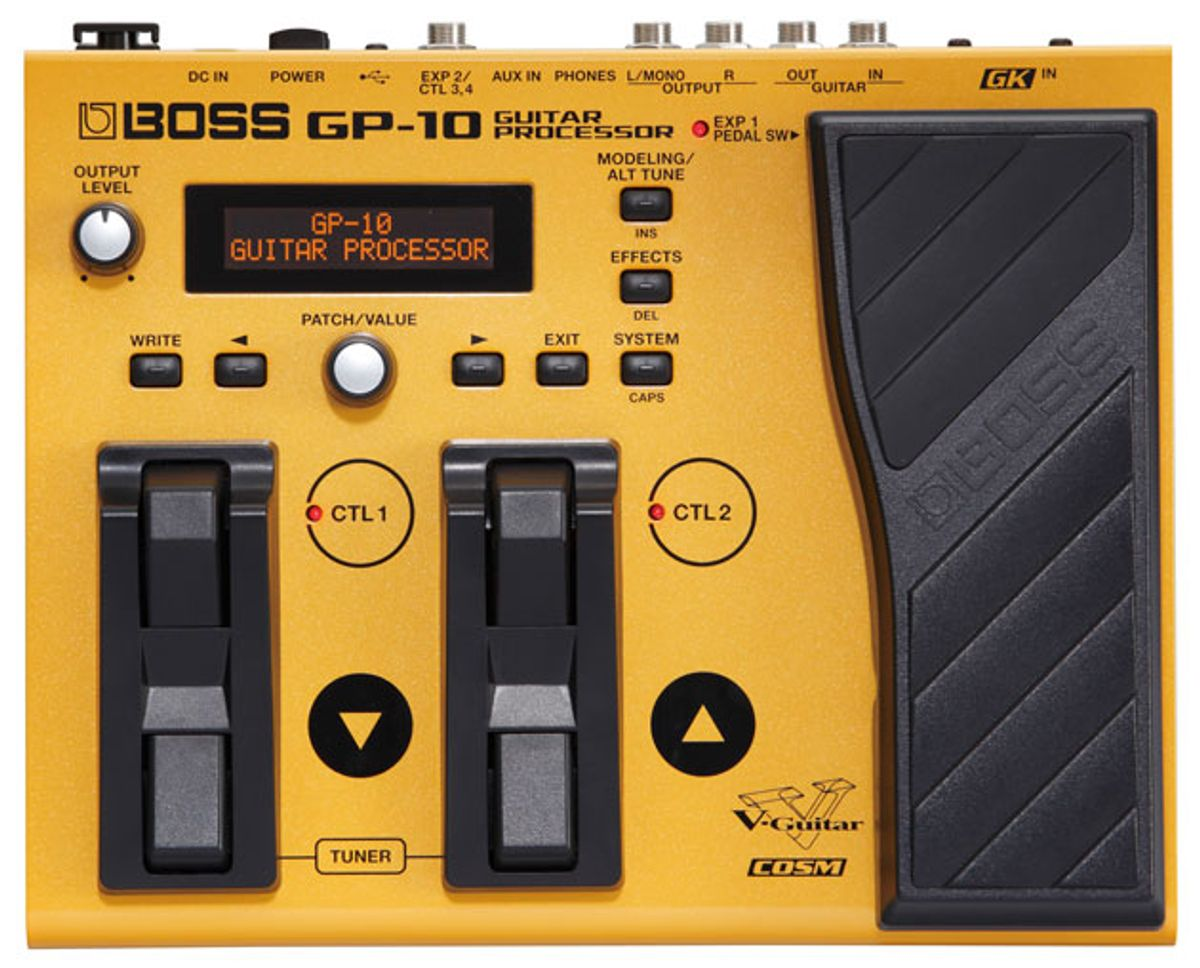 Boss Introduces the GP-10, GT-001, and VE-2 Vocal Harmonist