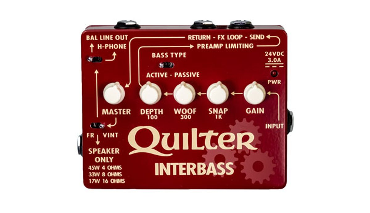Quilter Labs Launches the InterBass