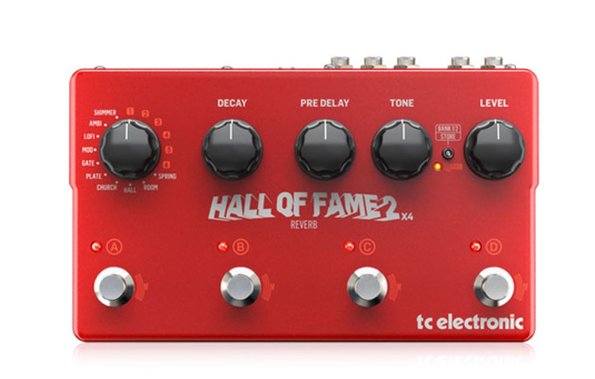 TC Electronic Introduces the Hall of Fame 2 X4 Reverb