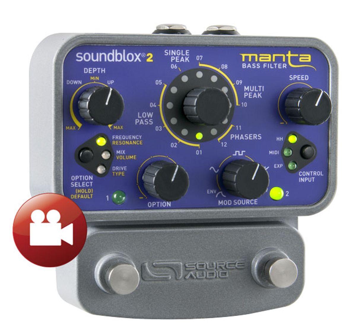 Source Audio Manta Bass Filter Review