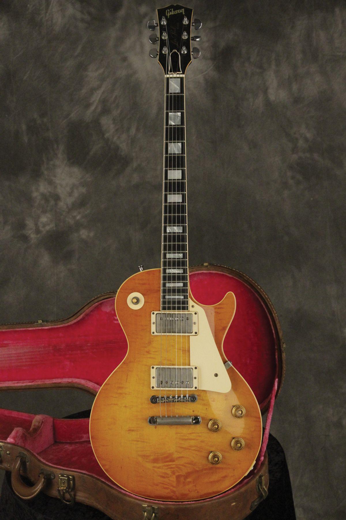 "Vintage Vault: 1958 Gibson Les Paul Standard ""Byrd"" Burst"