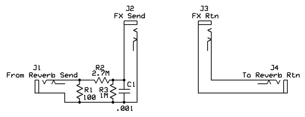 2: this schematic shows how a reverb circuit can be turned into an effects  loop  unfortunately, it's at the price of the reverb—but there are pedals  for