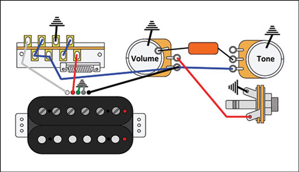 Mod Garage: The Triple-Threat, Solo Humbucker Wiring