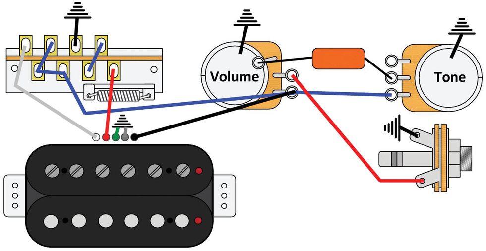 mod garage: the triple-threat, solo humbucker wiring | premier guitar  premier guitar
