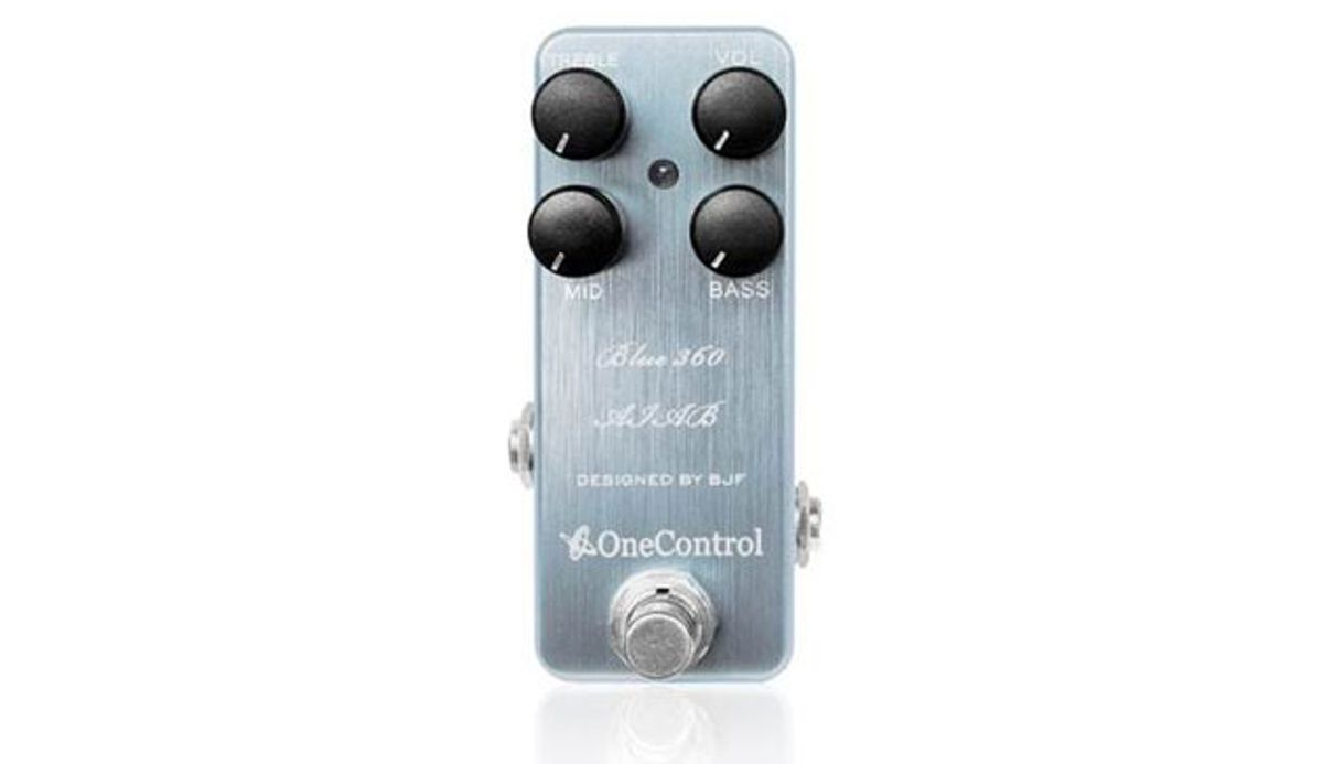One Control Launches the Blue 360 Bass Preamp