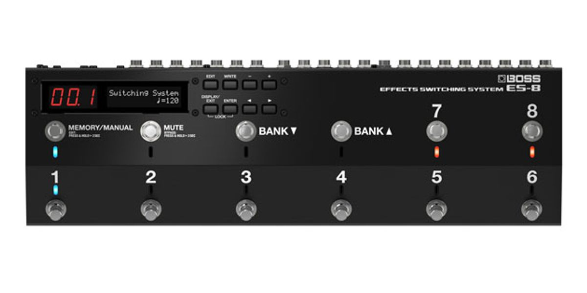 Boss Releases the ES-8 Effects Switching System and BB-1X Bass Driver