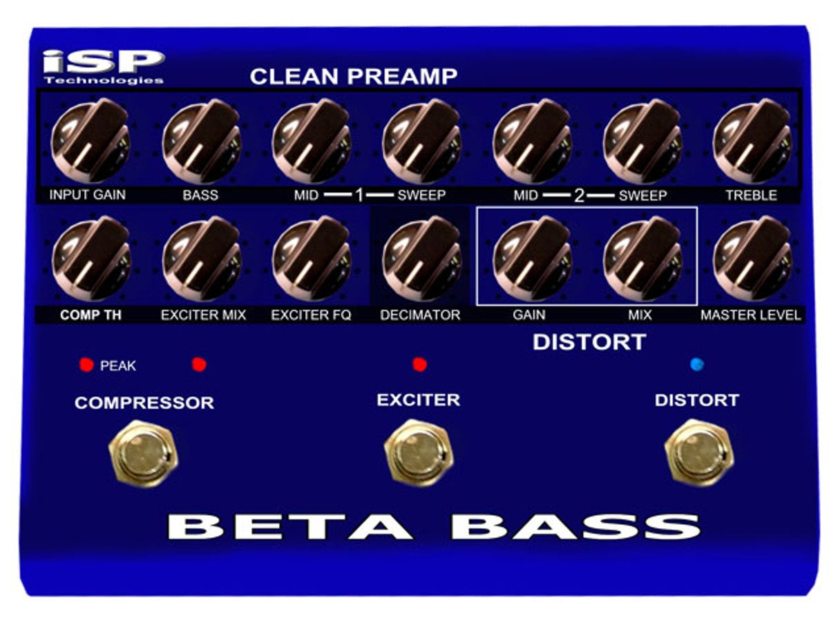 ISP Technologies Introduces the Beta Bass Preamp