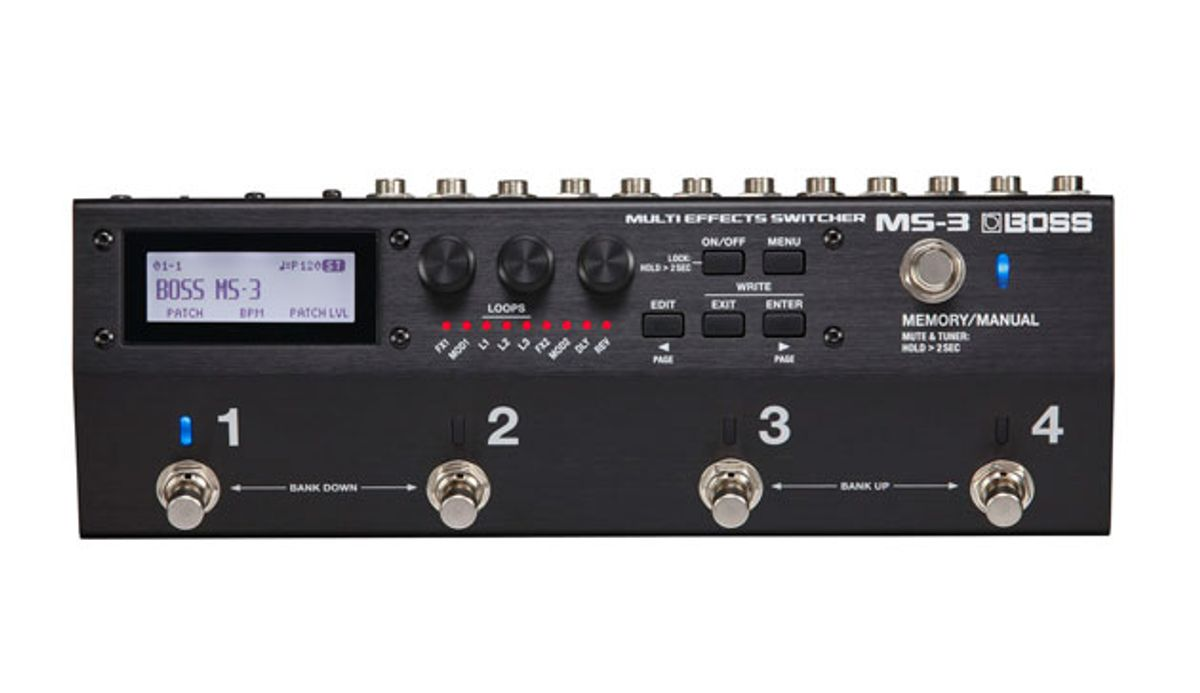 Boss Releases the MS-3 Multi-Effects Switcher