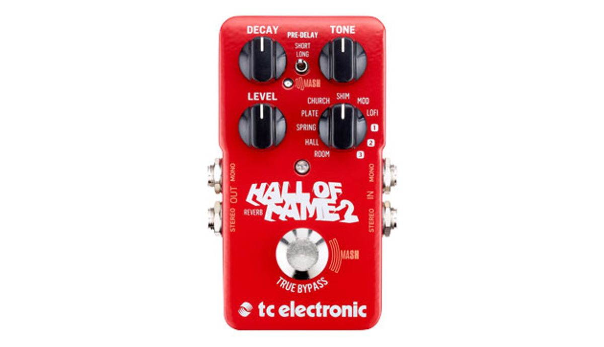TC Electronic Releases the Hall of Fame 2 Reverb