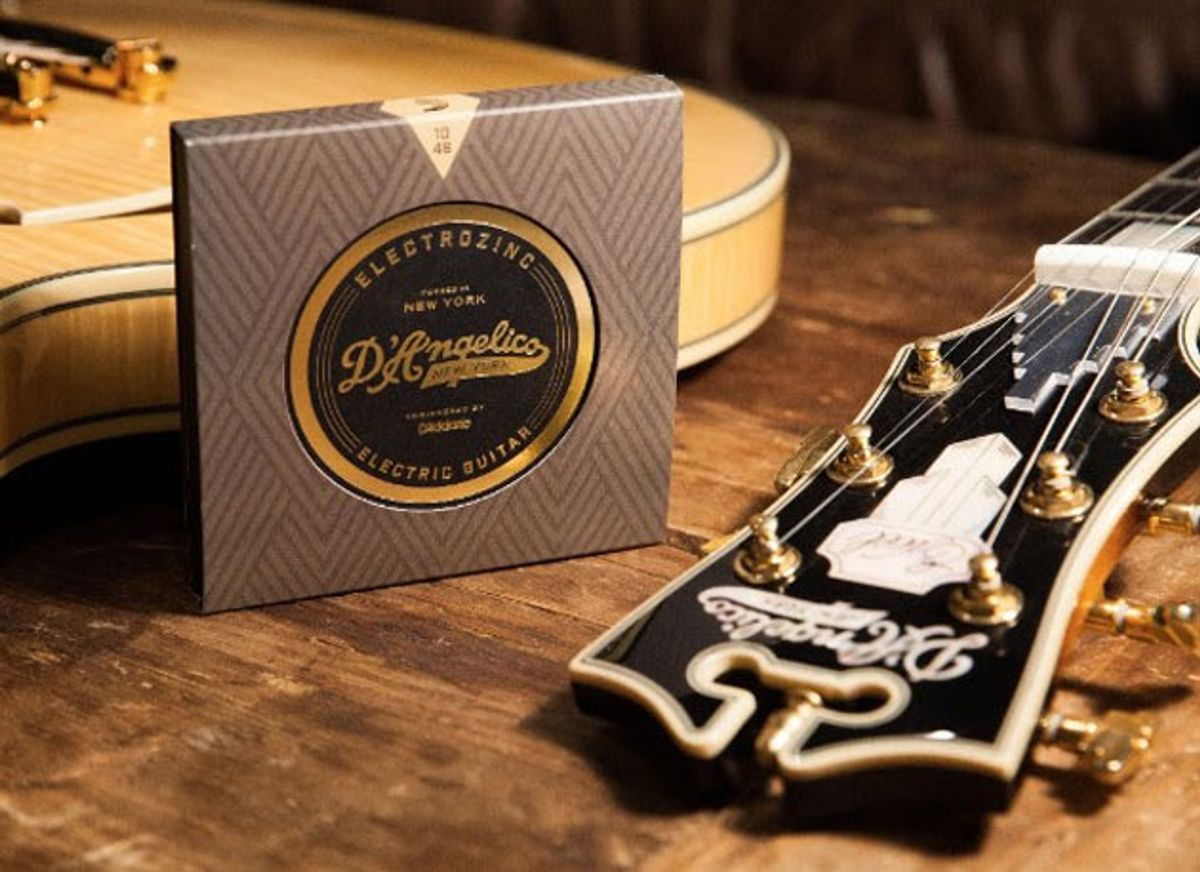 D'Angelico Guitars Partners with D'Addario to Release Electrozinc Strings