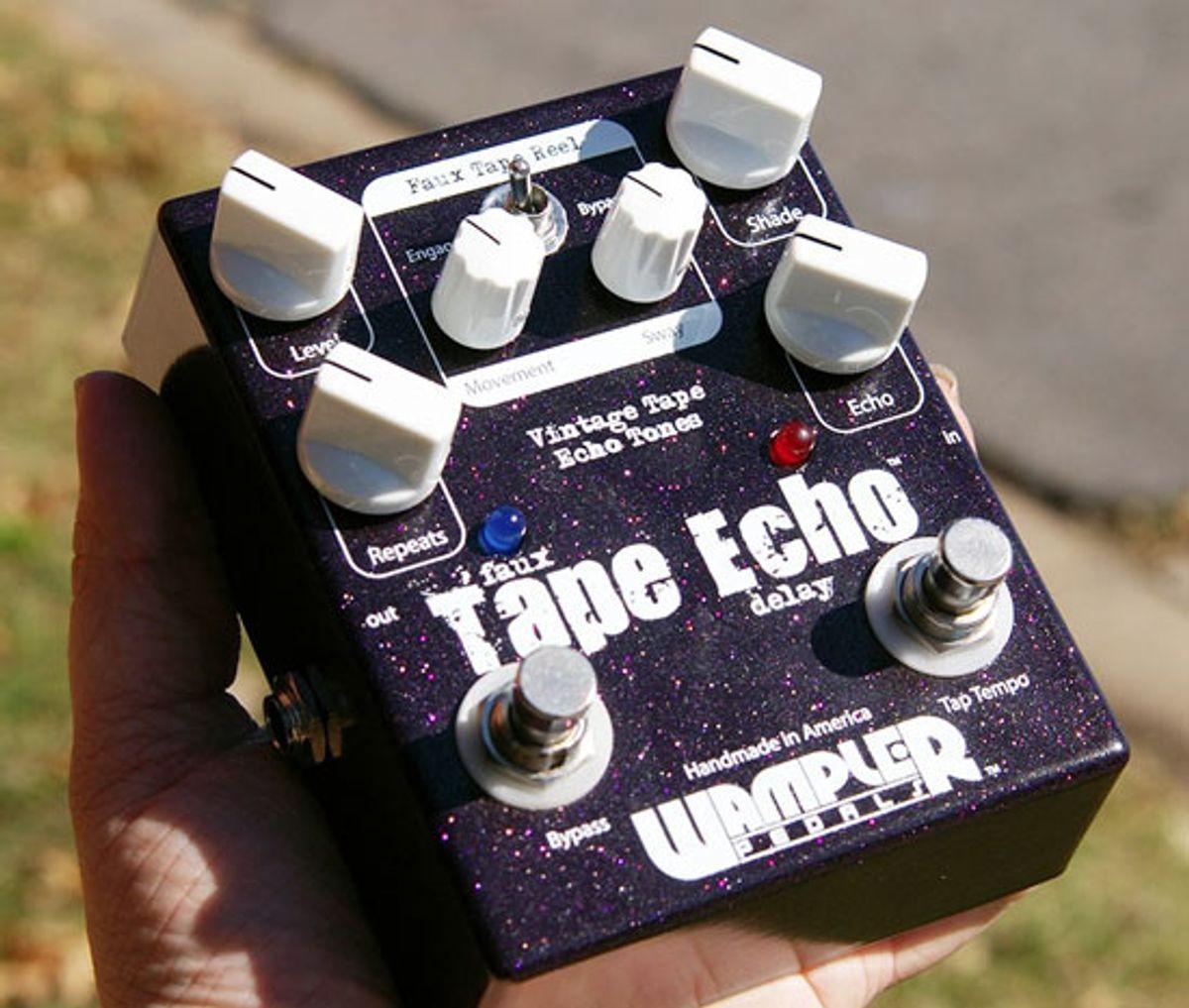 Wampler Pedals Reveals Tap Tempo Faux Tape Echo