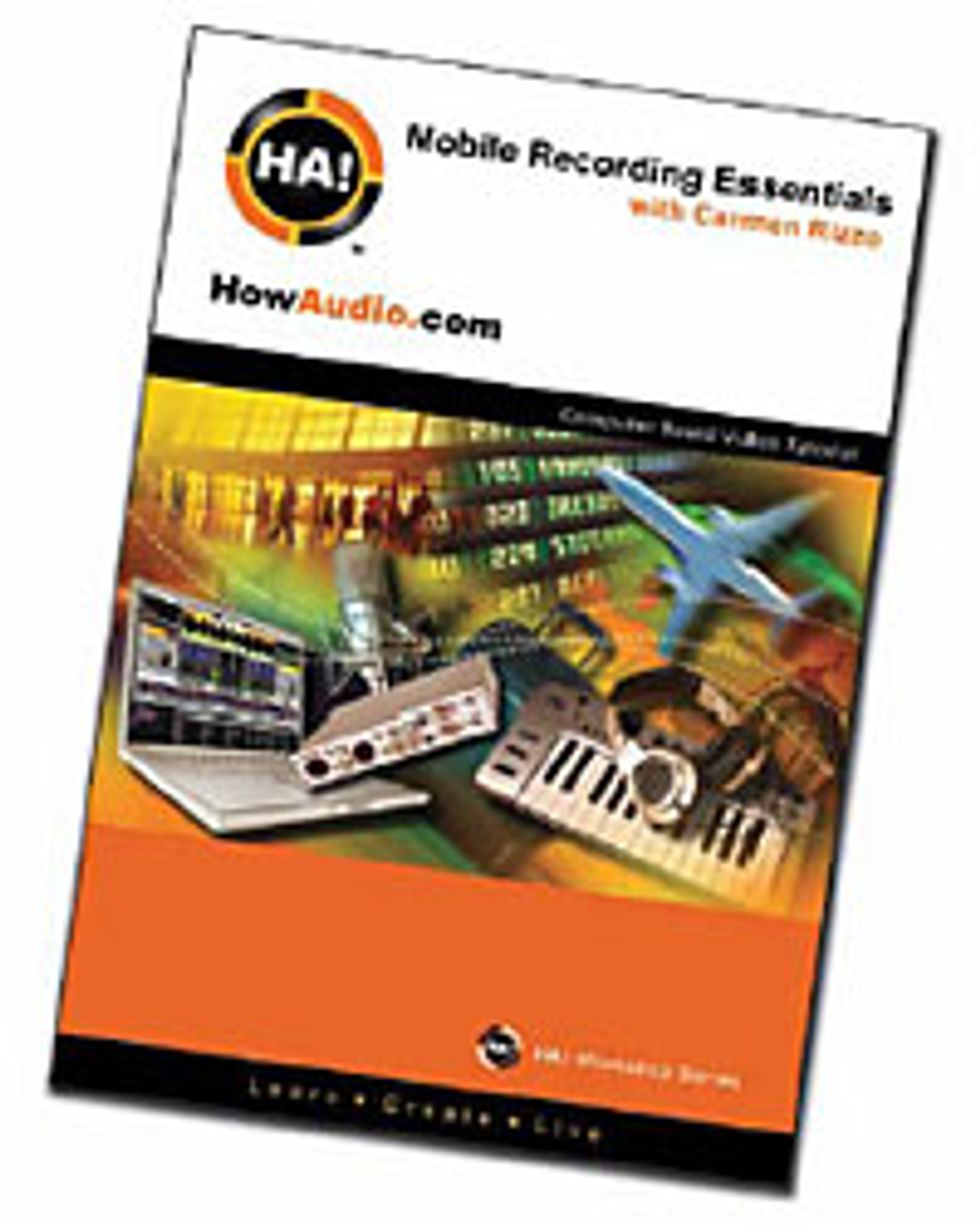 HowAudio.com's Mobile Recording Essentials with Carmen Rizzo DVD