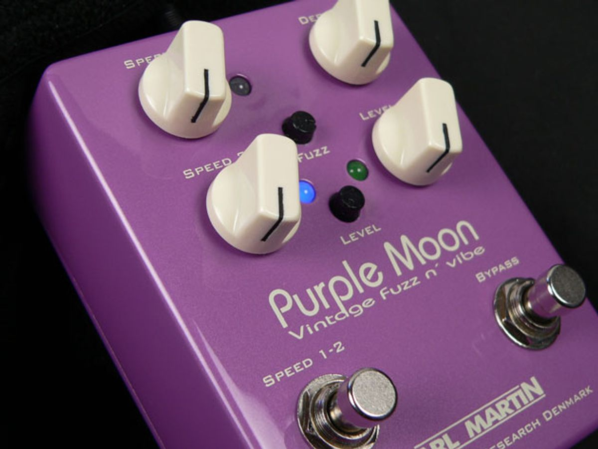 Carl Martin Introduces the Purple Moon and Dual Injector Pedals