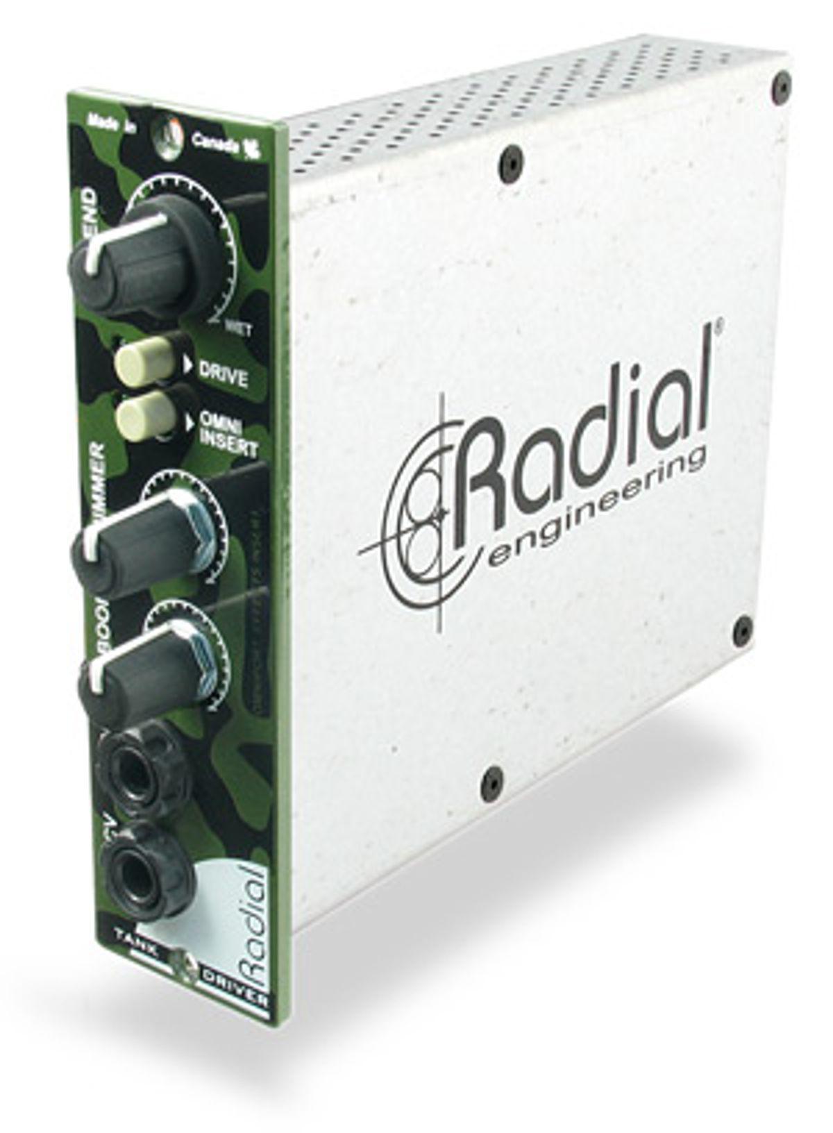 Radial Engineering Releases TankDriver