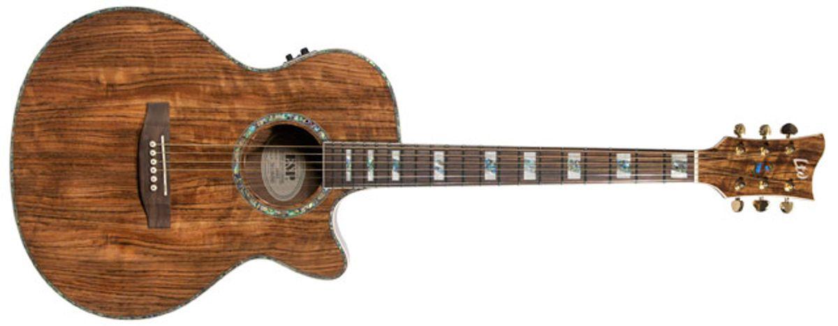 LTD Xtone EW-Z Zebra Wood Acoustic Guitar Review