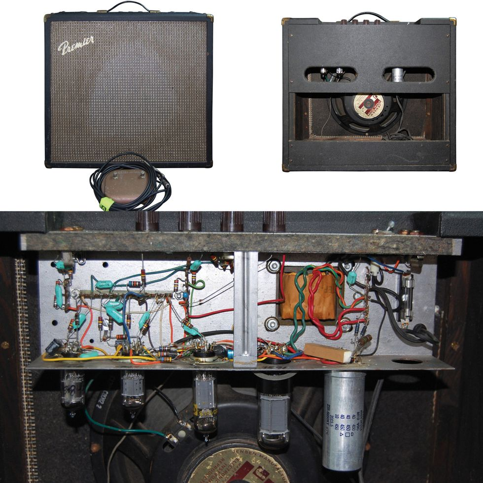 Ask Amp Man A 60s Premier Combo Gets Cleaned Up For Dirty Work Pushpull 45 Tube Amplifiers Blog This G2r Came With The Original Unusual Two Cable Switch To Turn Tremolo And Reverb On Off Like Most Inexpensive Amps Of Its Day