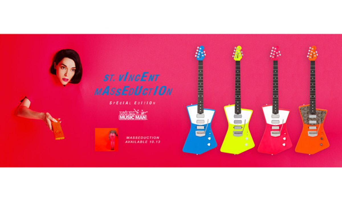 St. Vincent and Ernie Ball Music Man Announce Release of Limited-Edition 'Masseduction' Signature Guitar