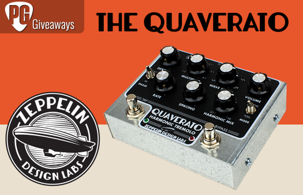 Win the new Quaverato Harmonic Tremolo Pedal by Zeppelin Design Labs!