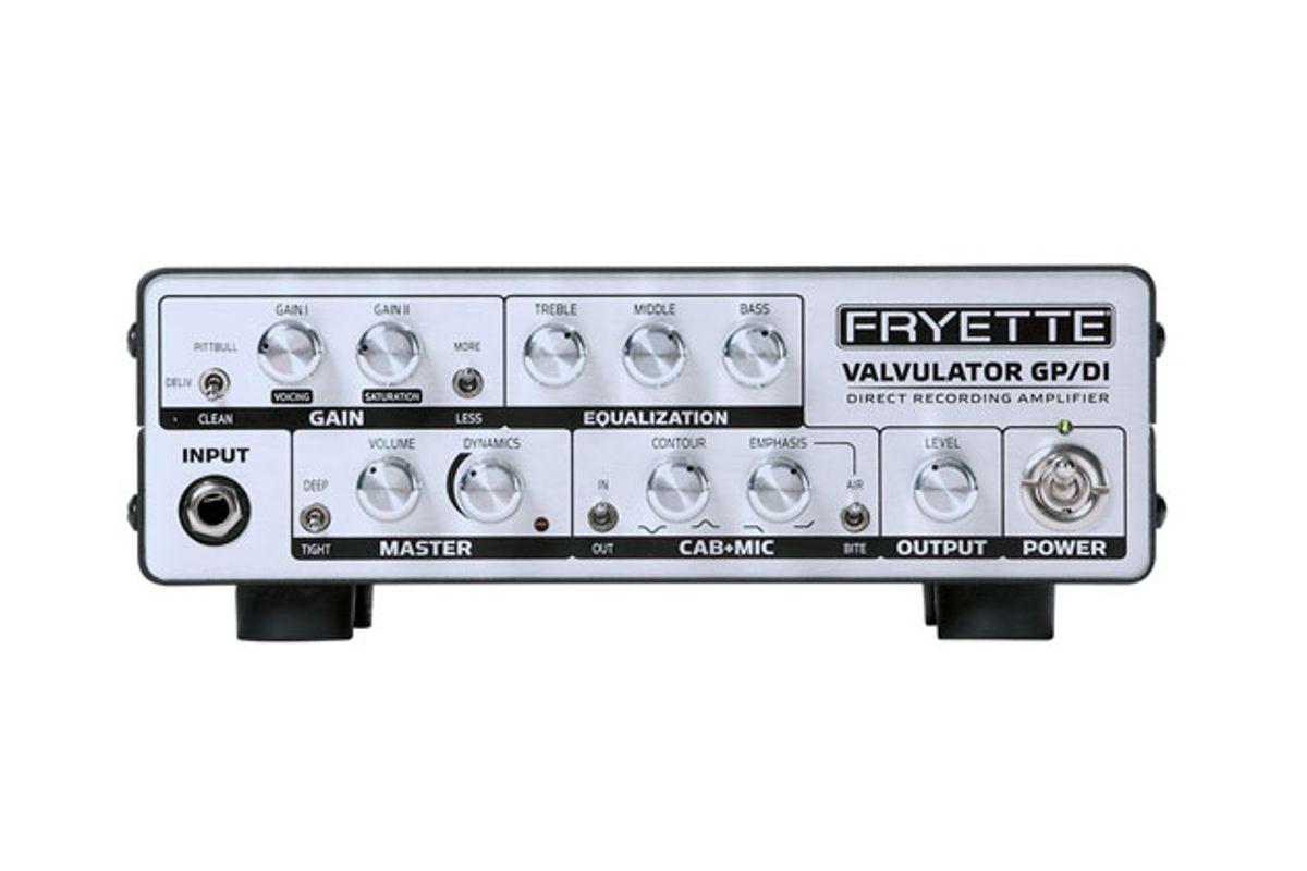 Fryette Amplification Announces the Valvulator GP/DI Direct Recording Amp
