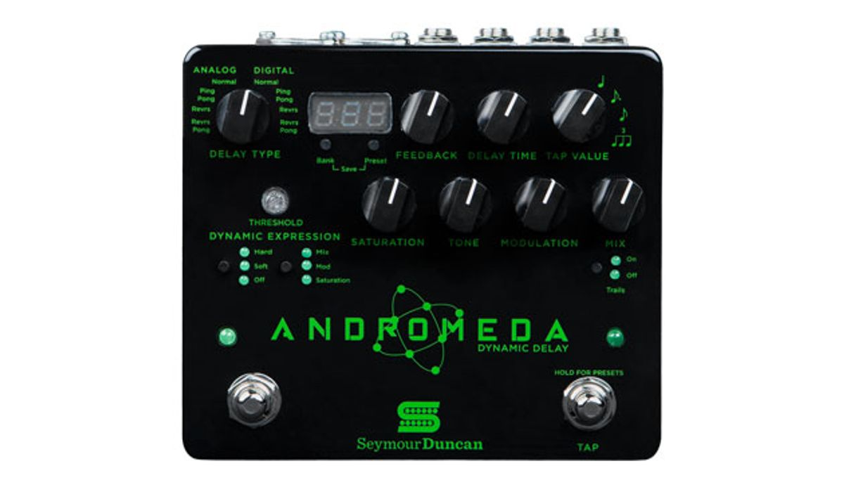Seymour Duncan Releases the Andromeda Dynamic Delay