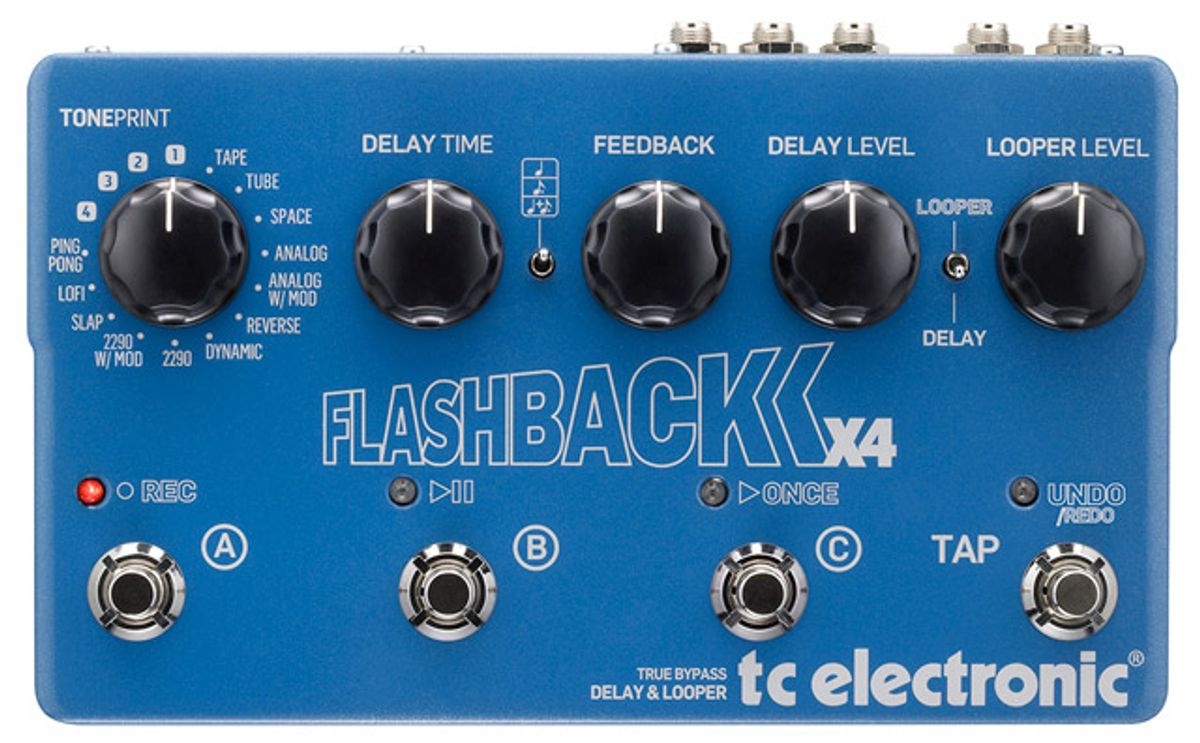 TC Electronic Announces Flashback X4 Delay and Looper