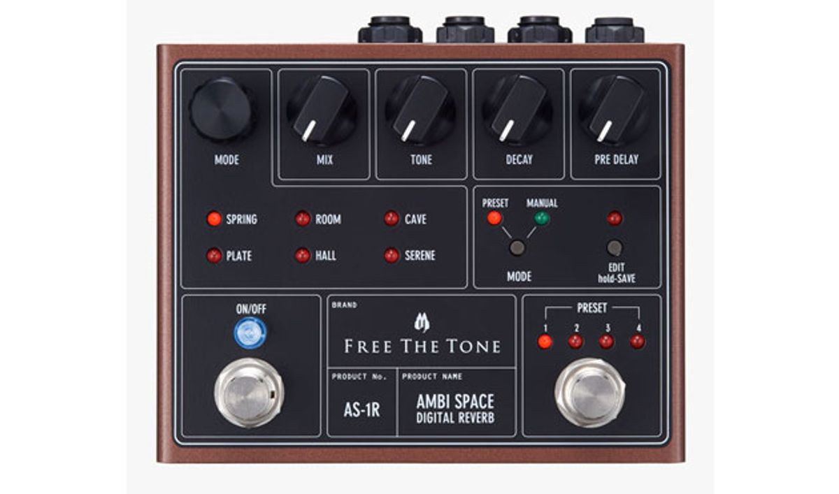 Free The Tone Announces the Ambi Space Digital Reverb