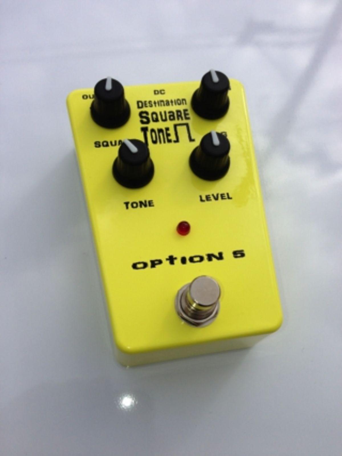 Option 5 Unveils Destination Square Tone Fuzz Pedal