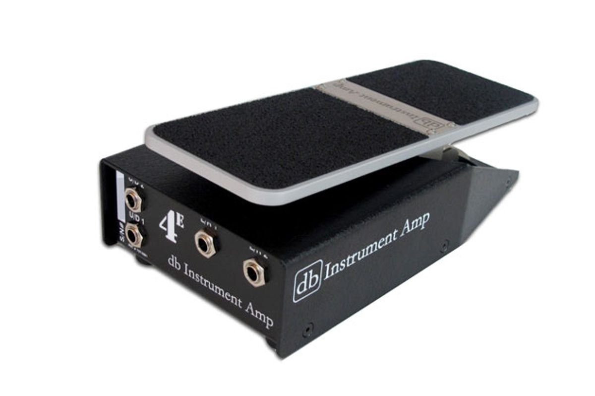 dB Instrument Amp Unveils 4E Expression Pedal