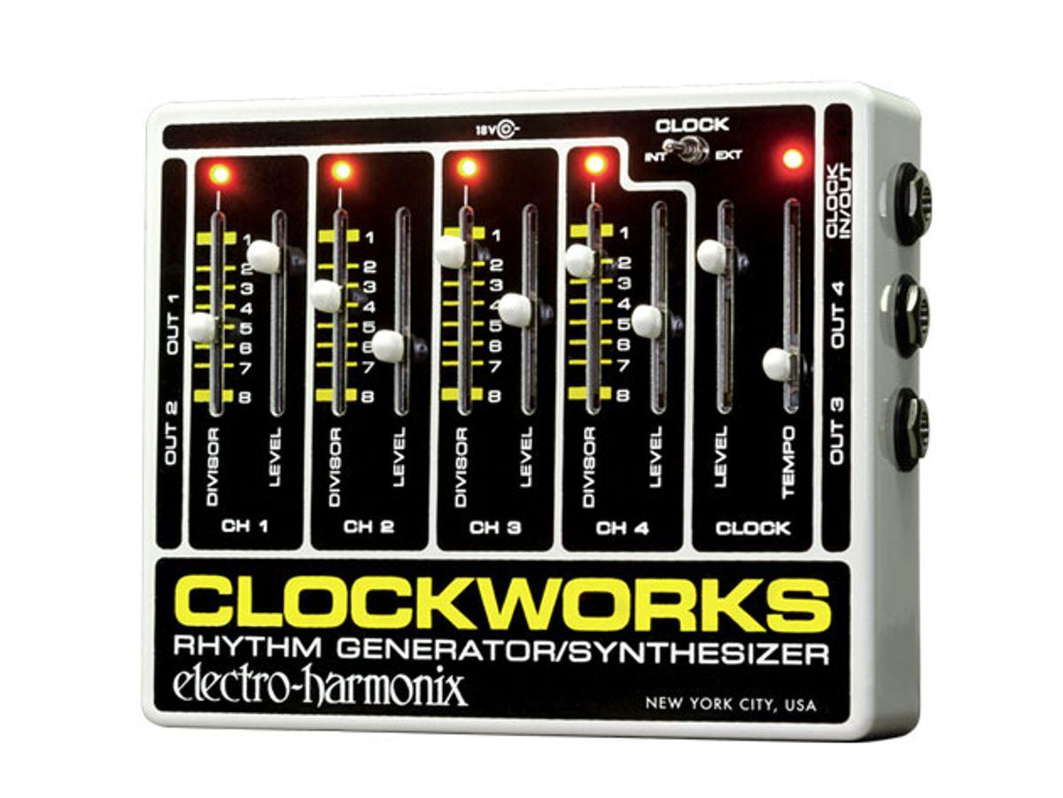 Electro-Harmonix Releases the Clockworks Rhythm Generator Synthesizer