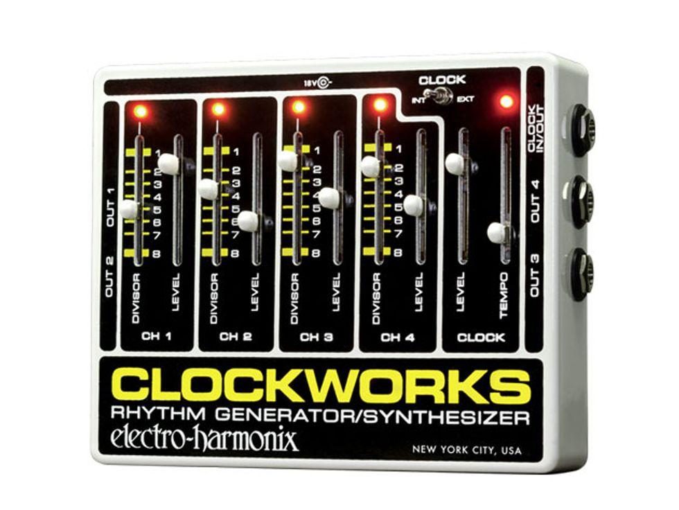 electro harmonix releases the clockwork rhythm generator synthesizer 2014 09 11 premier guitar. Black Bedroom Furniture Sets. Home Design Ideas
