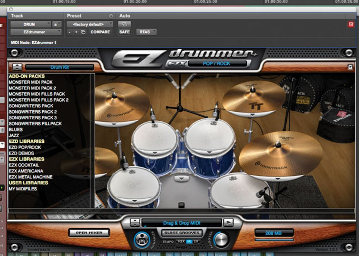 Grooving To A Virtual Drummer