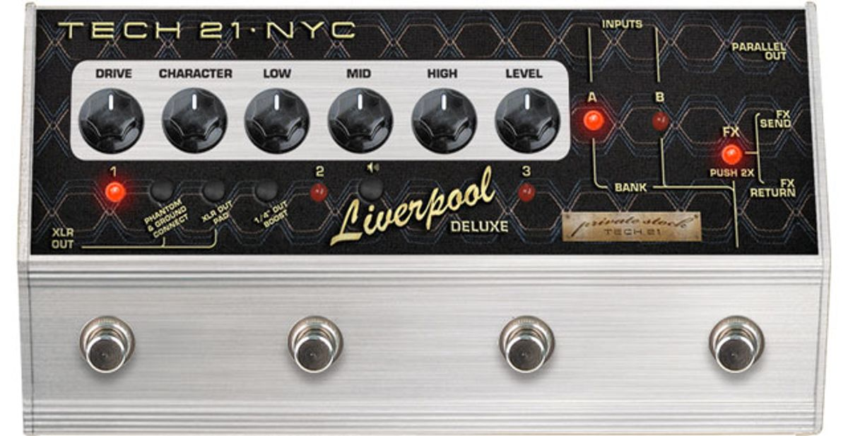 Tech 21's Private Stock Division Introduces SansAmp Liverpool Deluxe