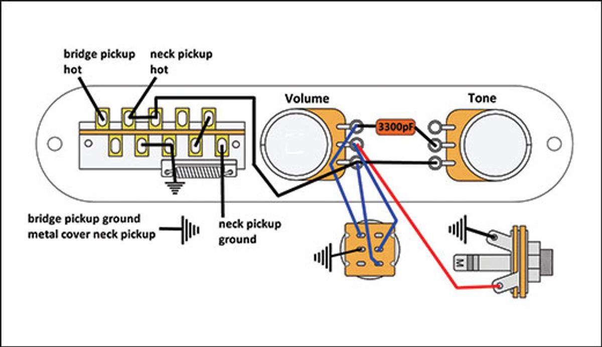 Mod Garage: The Super-Flexible, Super-Simple Telecaster Wiring