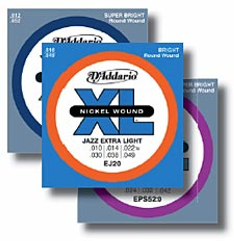 D'Addario XL ProSteels and XL Pure Nickel Strings