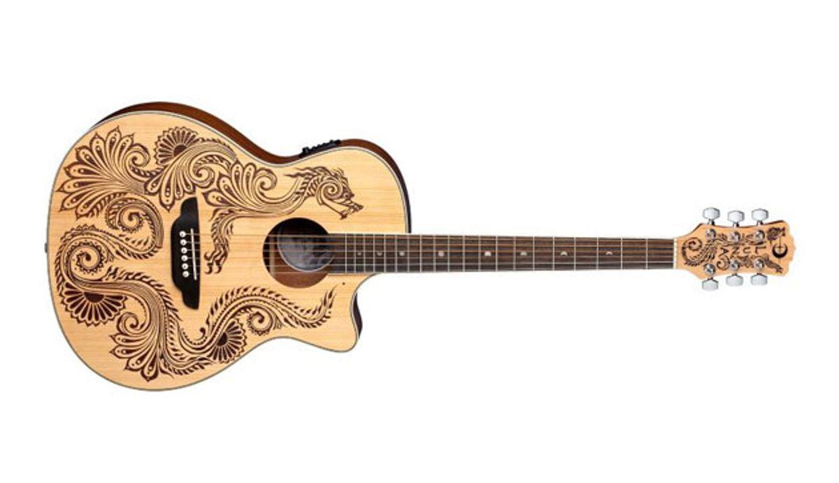 Luna Guitars Unveils the Henna Dragon