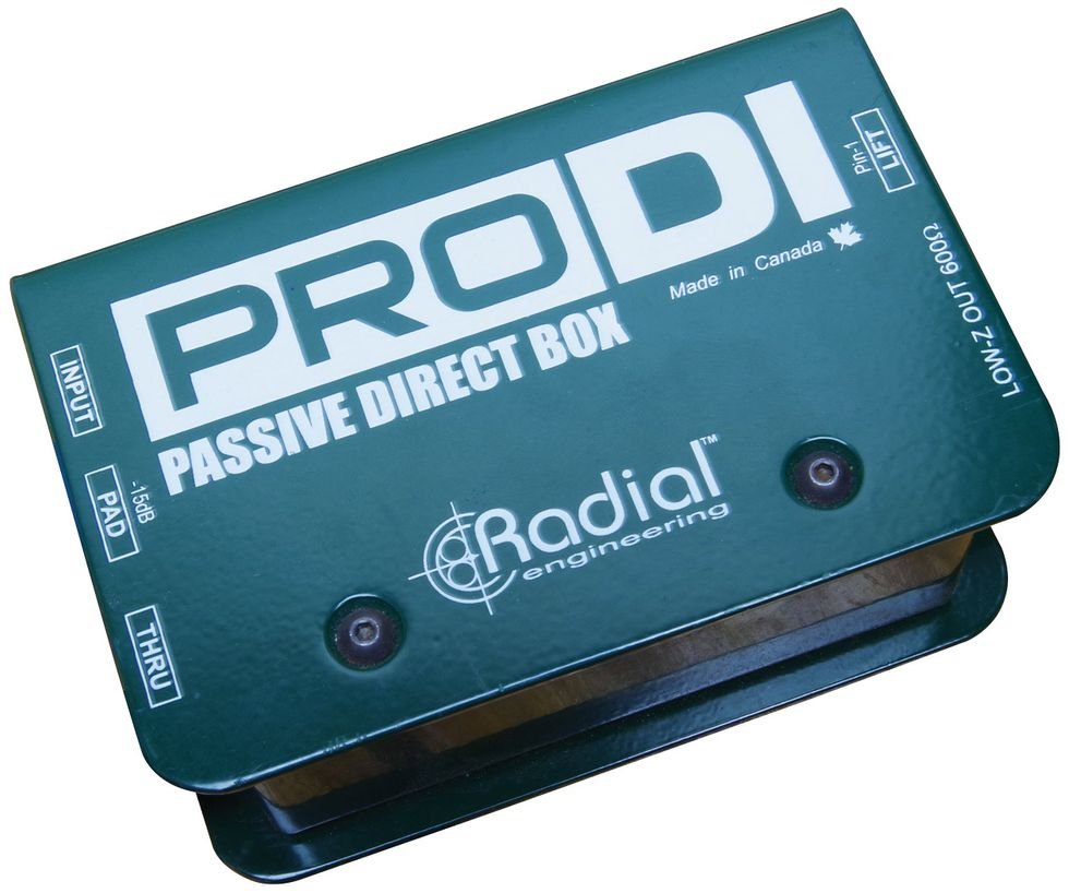 The 411 On Acoustic Guitar Dis Premier Electric Input Jack Wiring If Your Has An Onboard Preamp Then A Simple Passive Di Like Radial Engineerings Prodi Offers Everything You Need To Connect Studio Console Or
