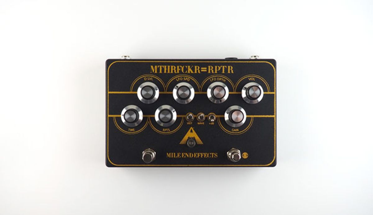 Mile End Effects Introduces the MTHRFCKR=RPTR Cassette Tape Delay/Preamp