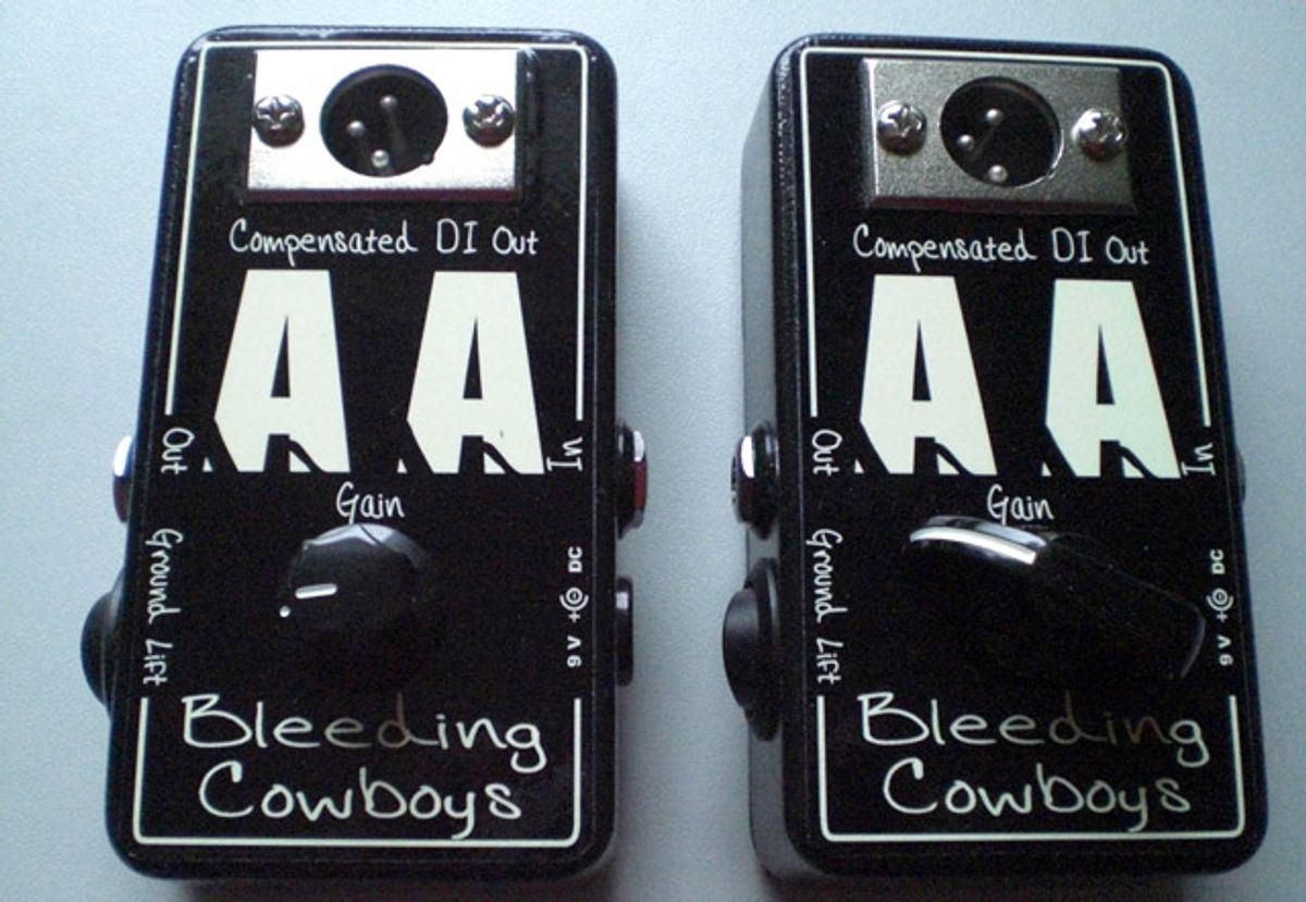 Bleeding Cowboys Releases Anonymous Amp (AA) DI Boxes