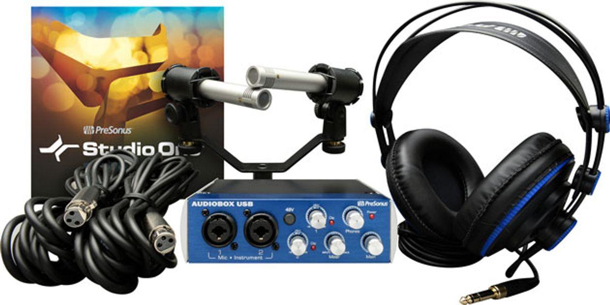 PreSonus Introduces AudioBox Stereo Recording Kit