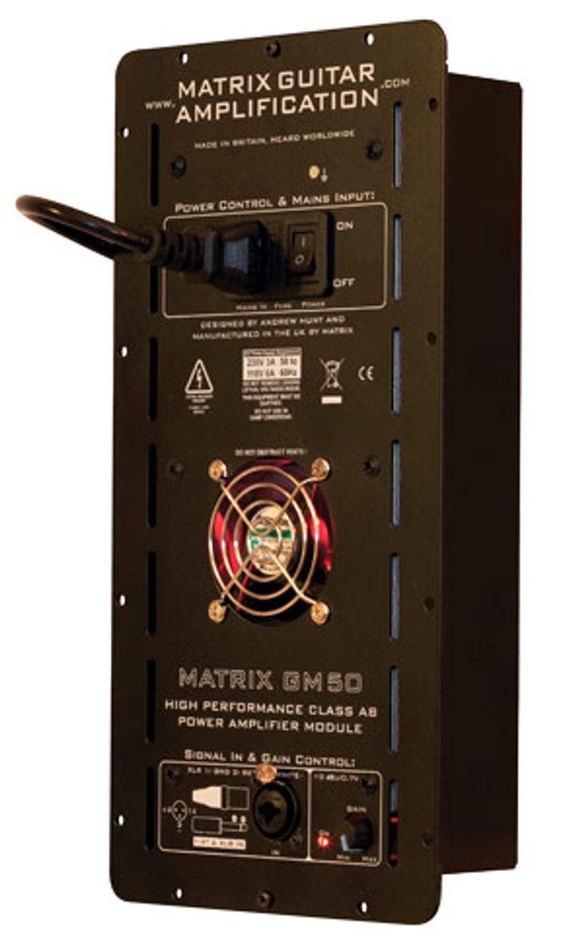 Matrix Guitar Amplification Releases the GM50 Power Amp Module