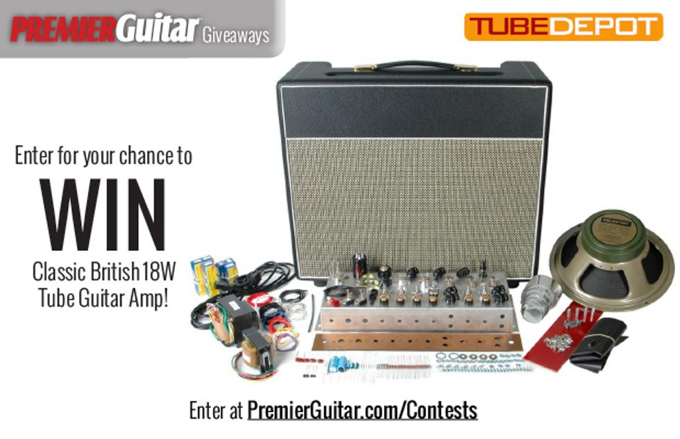 PG Giveaways: Classic British 18W Tube Guitar Amp from TubeDepot.com