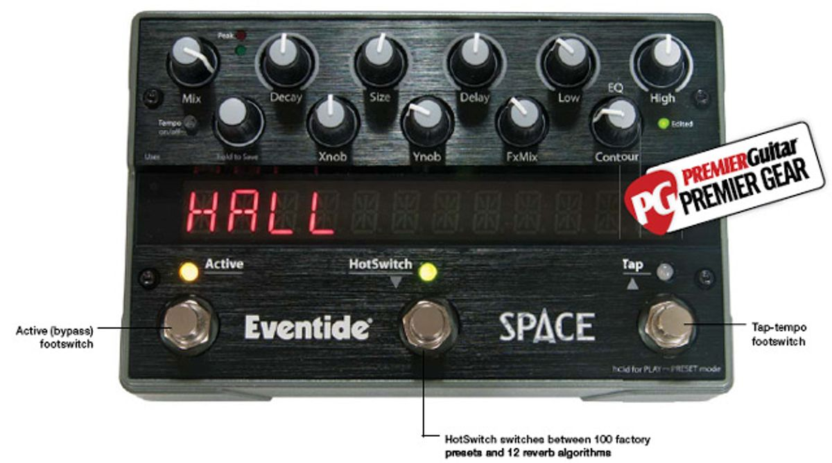 Eventide Space Reverb Pedal Review