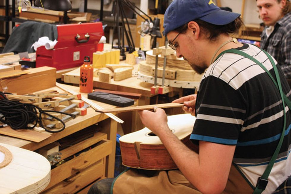 red wing inside minnesota state colleges guitar repair